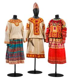 "Archaeologist and painter Nicholas Roerich contributed the set design and the costumes, which were described in a 2002 Ballet Magazine article as ""heavy smocks, handpainted with [primitive] symbols of circles and squares."""