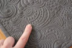 dense quilting-- Angela Waters