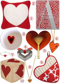 40 Great Heart-Themed Goods for Valentine's Day! #valentines #hearts #red