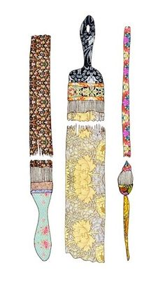 illustration brush art paint flowers