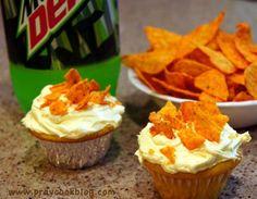 Mt. Dew and Doritos Cupcake