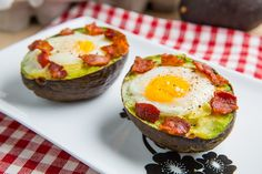 Baked Avocado Bacon and Eggs. So gotta try this