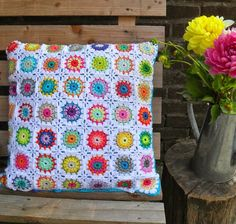 Inspiration. Crocheted cushion