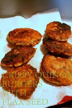 Crispy Quinoa Burger with Flax Seed
