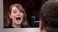 Emma Stone just can't keep a straight face and lie on 'Tonight'