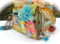 """With A Grin: """"Zephyr"""" Mini Album + Quick Paper Bag Page Tutorial"""