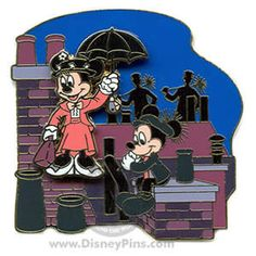 Mickey and MInnie Mary Poppins and chimney sweep pin: inkspired musings: A Mary Poppins kind of day