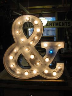 ampersand in lights