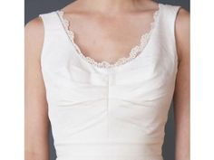 This eco gown features a touch of lace and retails for just $850 | Fair Trade Simply Elegant Wedding Gown | Green Bride Guide