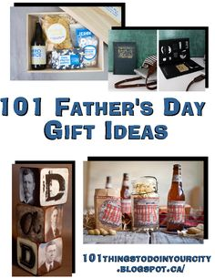 101 Father's Day Ideas - lots of creative and homemade gift ideas and links to free printables