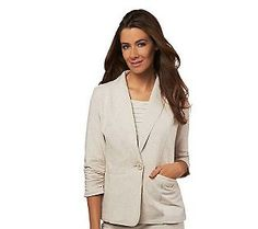 Pin to Win #SusanGraver Sweepstakes! {Brushed French Terry Boyfriend Jacket}