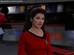 Troi in TOS uniform by deadfraggle on deviantART
