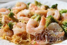 Sandy's Kitchen: Shrimp Lo Mein with Spaghetti Squash (no sugar, soy or teriyaki to make it Whole30)
