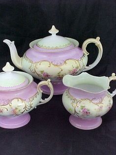 teapots and pitchers, tea sets, purple, purpl teapot, teapot set