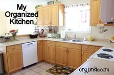 Org Junkie's organized kitchen!