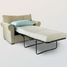 Twin Size Studio Chair Sleeper Red Girls room