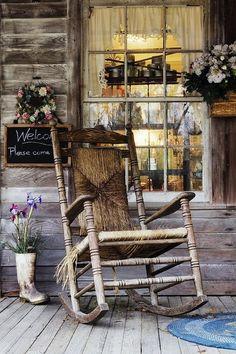 the rustic porch