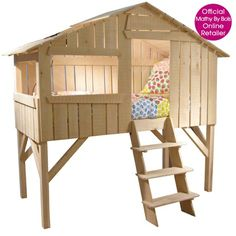 KIDS BEDROOM TREE HOUSE Bed in Natural Pine