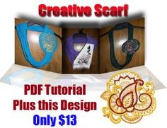 Creative scarf embroidery project