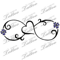 Would do one flower in purple and the other in yellow for the birthstone colors of my boys. tattoo infinity symbol, birthstone tattoo, infinity symbol tattoos, flower infinity tattoo, tattoo flower infinity, infinity flower tattoo, butterfly infiniti tattoos, love symbol tattoo, butterfly infinity tattoo