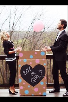 Balloon Baby Announcement