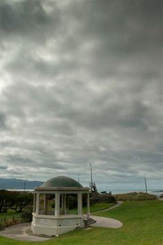 War Memorial at Island Bay where the plaque is situated facing out to sea.