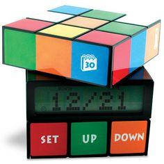 ThinkGeek :: Rubik's Cube Alarm Clock
