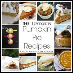 10 Unique Pumpkin Pie Recipes -- serve up some pumpkin pie this fall with these amazing and unique recipe ideas.