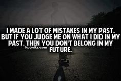 I'm the queen of mistakes.