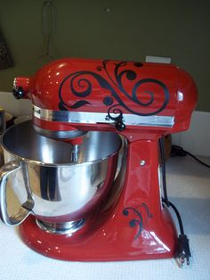 decorated mixer