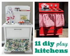 11 DIY Play Kitchens can you make for the kids for Christmas!
