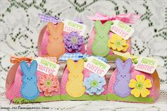 CTMH Peeps Happy Easter treat boxes with Lucy papers by Jody Gustafson = fantastically adorable!