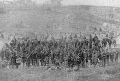 """""""93rd New York Infantry at Antietam: Union troops gather near Sharpsburg, Maryland, on September 16, 1862, the day before the Battle of Antietam, which would become the bloodiest single day in American history. (Photo Credit: Library of Congress )."""""""