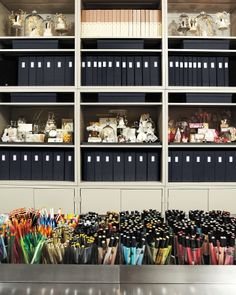Darcy Miller's craft room, wow...I can't get past the pens!
