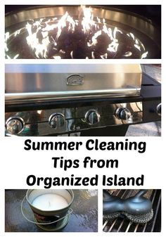 Summer Cleaning Tips - Organized Island