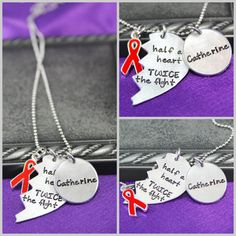 Personalized neckalce, CHD Awareness Jewelry, heart defect neckalce, hand stamped jewelry, heart mama necklace on Etsy, $29.00