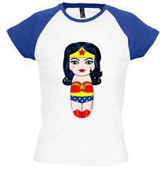 Camiseta Kokeshi Wonder Woman