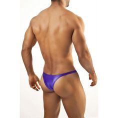 (Joe Snyder Micro Brief Capri Bikini Purple) Brand: Joe Snyder, Contour supportive pouch, Flattering micro bikini cut coverage, Sexy fit around hips and butt, Fabric: 80% Polyamide , 20% Spandex, Imported