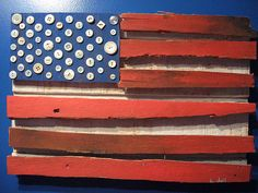 American flag with buttons