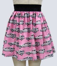 Back to the Future Delorean Full Skirt by GoChaseRabbits on Etsy. #hoverboard #backtothefuture #delorean