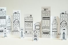 Print out a free downloadable Paper City by Made by Joel for your children to have fun playing with. di carta, idea, stuff, toy, paper citi, papers, paper crafts, printabl, kid
