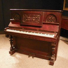 Antique upright pianos on pinterest upright piano for Small piano dimensions