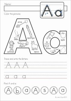 Alphabet Pages - great for Back to School!