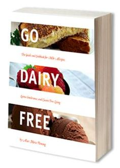 Go Dairy Free   The guide and cookbook for milk allergies, lactose intolerance, and casein-free living.    Thanks to my sister April for giving this to us.  Haven't put it down since it arrived.