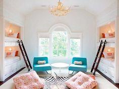 bunk beds, beach houses, kid rooms, bunk rooms, guest rooms, summer houses, 4 kids, bedroom, girl rooms