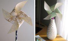 paper, pinwheel, kid crafts, parti