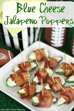 Blue Cheese Jalapeno Poppers  #HomegateFever