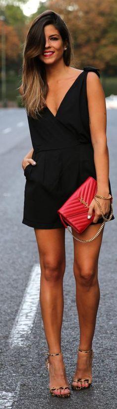 black romper, outfit, little black dresses, shoe