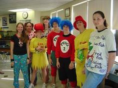 Dr. Seuss Book costumes  @Kate Mazur Mazur Steenstra- you can show her that an older kid dressed up as a sneetch with this one. Buy a yellow shirt and a boa and you are set!