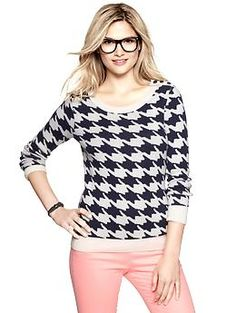 Houndstooth sweater | Gap